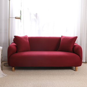 Burgundy Brushed Elastic Stretch Sofa Cover Couch Cover Sofa Slipcovers