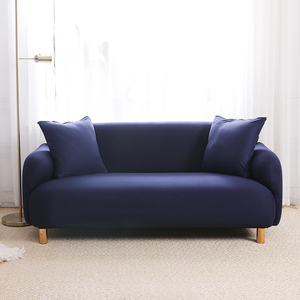 Navy Blue Brushed Elastic Stretch Sofa Cover Couch Cover Sofa Slipcovers