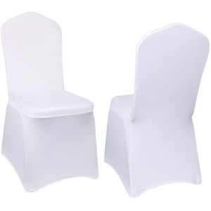 White Stretch Spandex Banquet Chair Cover for Wedding Party Dining Banquet Event