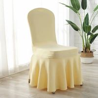 Ivory Elastic Stretch Air Spandex Skirt Banquet Chair Covers for Wedding Party Banquet Event