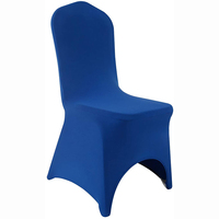 Royal Blue Arch Front Stretch Spandex Banquet Chair Cover for Wedding Party Dining Banquet Event