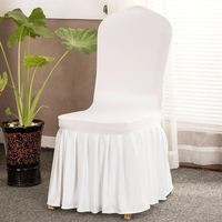 White Elastic Stretch Spandex Skirt Banquet Chair Covers for Wedding Party Banquet Event Restaurant