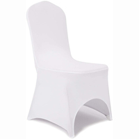 White Arch Front Stretch Spandex Banquet Chair Cover for Wedding Party Dining Banquet Event