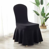 Black Elastic Stretch Air Spandex Skirt Banquet Chair Covers for Wedding Party Banquet Event