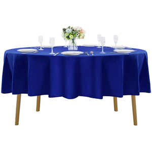 "90""Round Premium Tablecloth for Wedding/Banquet/Restaurant - Polyester Fabric Table Cloth Royal Blue"