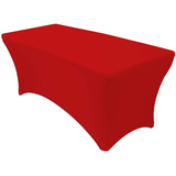 Spandex Tablecloths for 6ft Home Rectangle Rectangular Table Fitted Stretch Table Cover Red
