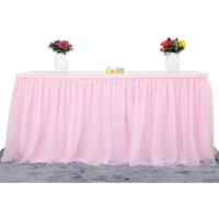 6ft Pink Tulle Table Skirt for Rectangle or Round Table Tutu Table Skirt Decoration Table Cloth