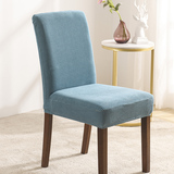 Turquoise Velvet Stretch Dining Room Chair Covers Soft Removable Dining Chair Slipcover