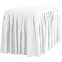 14ft 17ft 21ft Accordion Pleat Polyester Table Skirt White