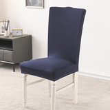 Navy Blue Stretch Dining Room Chair Covers Soft Removable Dining Chair Slipcover