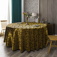 120inch Damask Jacquard Tablecloth Polyester Fabric Table Cover for Kitchen Dinning Wedding Banquet