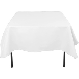 "72""x72"" Premium Tablecloth for Wedding/Banquet/Restaurant - Polyester Fabric Table Cloth - White"