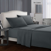 Bedding Bed Sheet Set - 4 Piece Queen Bedding - Soft Brushed Microfiber Fabric Queen Grey