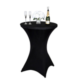 Cocktail Table Covers Stretch Spandex Black Cocktail Table Cover Cloth for Wedding,Banquet and Party