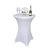 Cocktail Table Covers Stretch Spandex White Cocktail Table Cover Cloth for Wedding,Banquet and Party