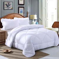All Season Queen Diamond Quilted Comforter Soft Quilted Down Alternative Duvet Insert Bedding White