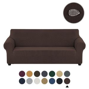 Premium Water Repellent Sofa Cover Stretch Couch Slipcover Super Soft Fabric Couch Cover (Chocolate)