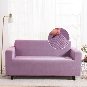 Stretch Velvet Sofa Slipcover Couch Sofa Cover Furniture Protector with Elastic Bottom Lavender