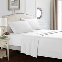 Bedding Bed Sheet Set - 4 Piece Queen Bedding - Soft Brushed Microfiber Fabric Queen White