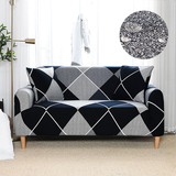 Water Repellent Black  Geometric Printed Sofa Cover Stretch Couch Cover Sofa Slipcovers for Couches