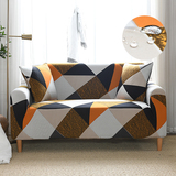Water Repellent Geometric Printed Sofa Cover Stretch Couch Cover Sofa Slipcovers
