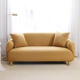 Gold Brushed Elastic Stretch Sofa Cover Couch Cover Sofa Slipcovers