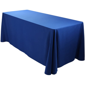 "90""x156"" Premium Tablecloth for Wedding/Banquet/Restaurant - Polyester Fabric Table Cloth Royal Blue"