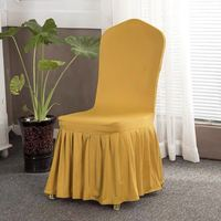Gold Elastic Stretch Spandex Skirt Banquet Chair Covers for Wedding Party Banquet Event Restaurant