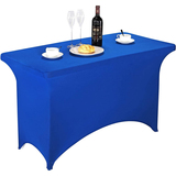 Spandex Table Cover 4ft Royal Blue,Rectangle Stretch Fitted Table Cover or Tablecloth for 4ft Table